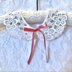 Baby White Lace Collar, Photo Prop, New